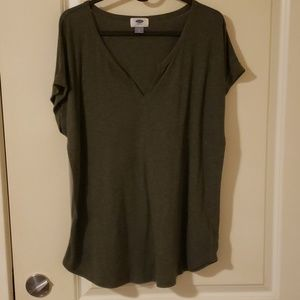 Dark Green Old Navy Vneck Tee